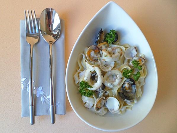 Tagliatelles-coquillages-Roquefort