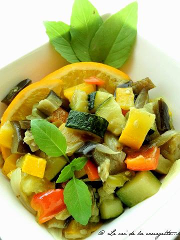 Poêlée de légumes à l'orange