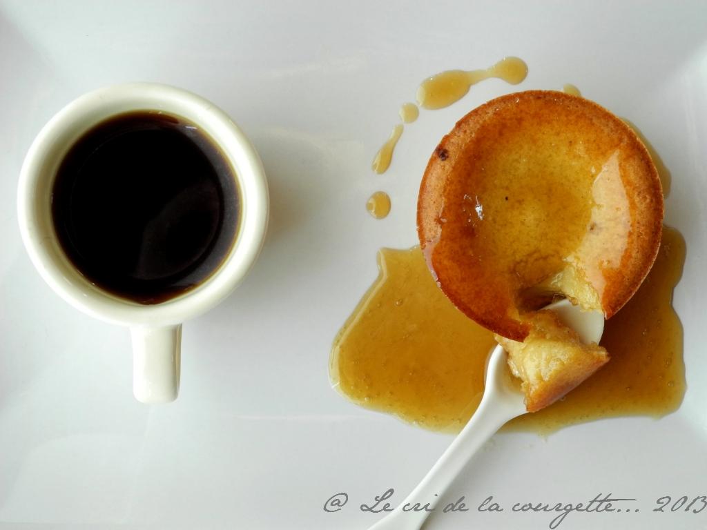 Moelleux soyeux au chocolat blanc et caramel de café