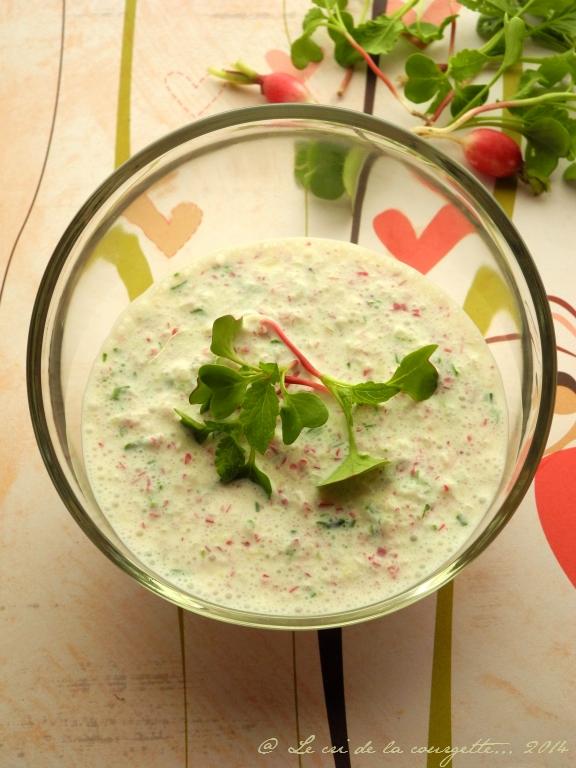 Crème radis-