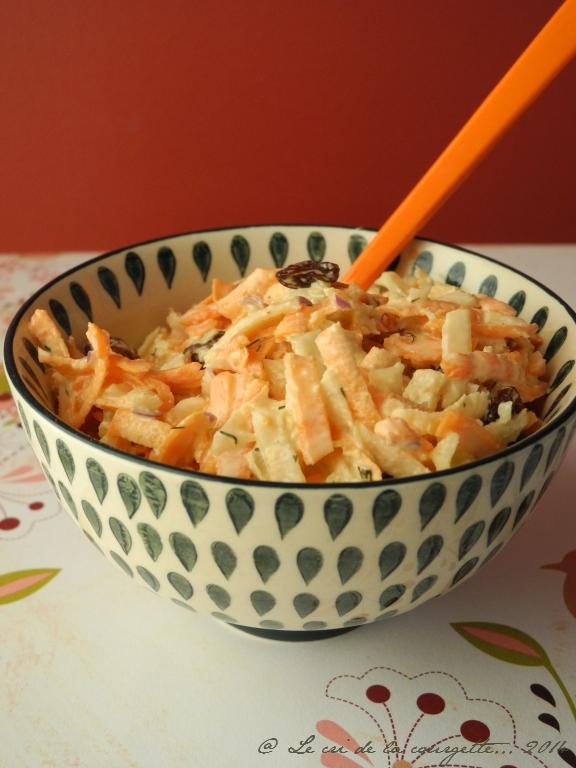 Coleslaw de choux rave et carottes