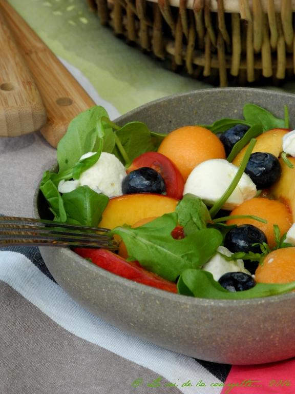 Salade d'été sucrée salée