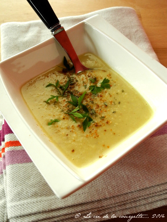 Crème de pâtisson au curry