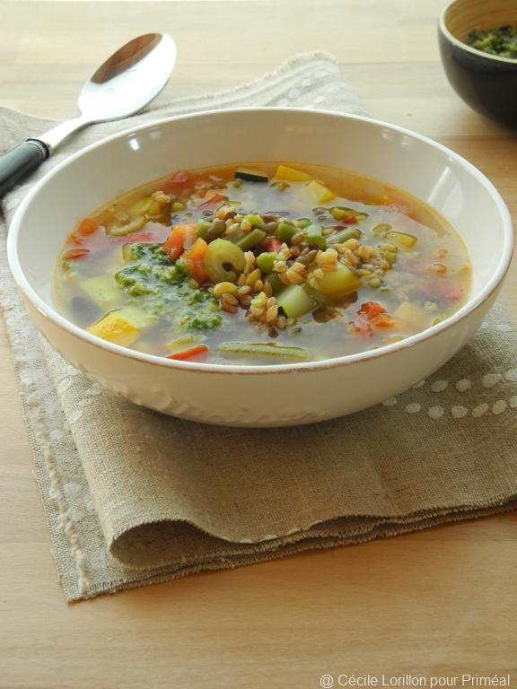 Minestrone au mescia de petit peautre de haute provence - Cuisiner le petit epeautre ...
