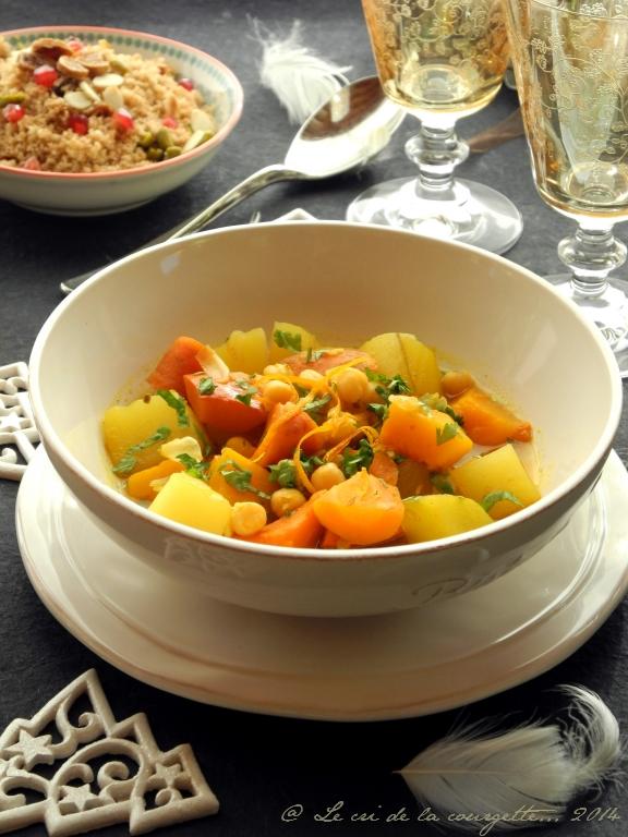 Tajine végétarien aux parfums d'orange