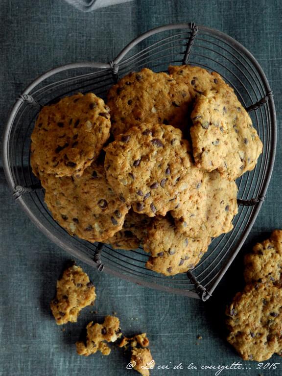 Cookies aux pépites de chocolat et à la bergamote {sans lactose, sans gluten}