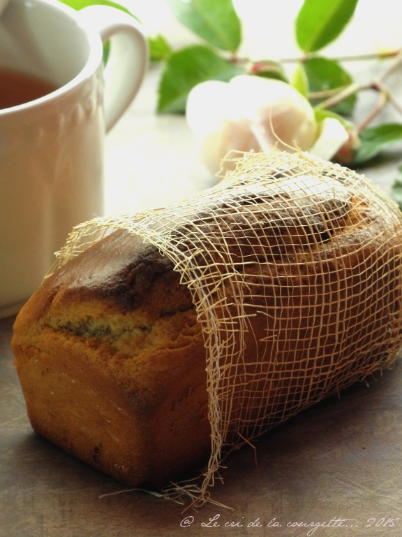 Cake au mascarpone, miel et fleur d'oranger {sans gluten}