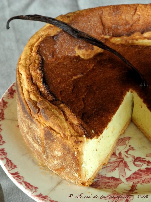 """Tarte au """"fromage blanc"""" de soja et à la vanille"""