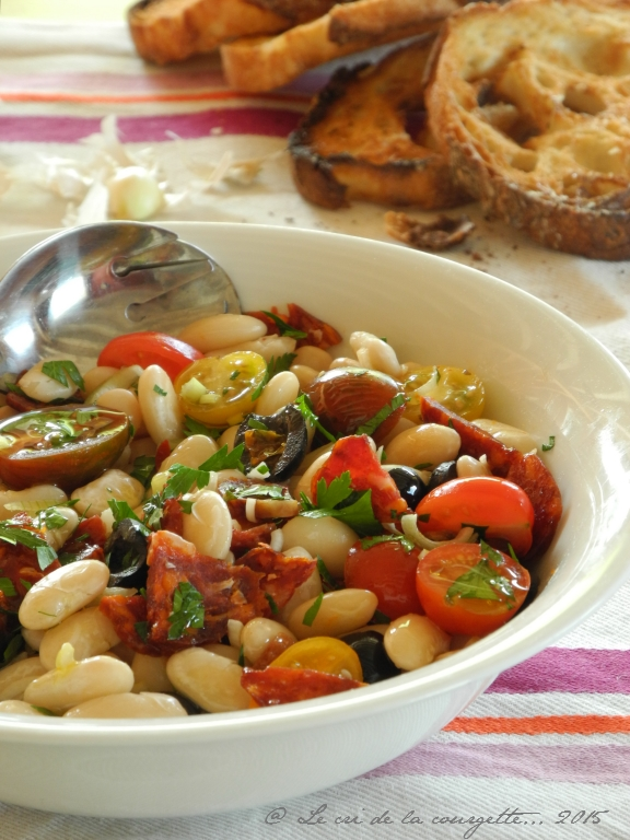 Salade de haricots tarbais, version Sud