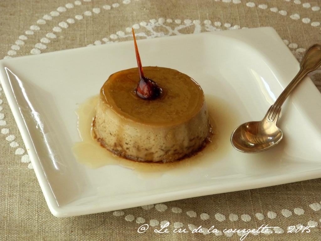 Crème renversée, saveur Rooïbos au caramel