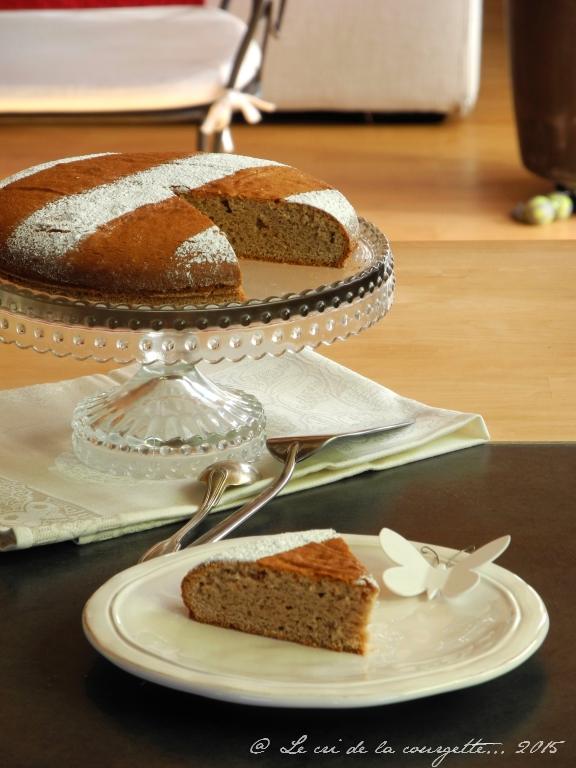 Gâteau moelleux à la châtaigne et au beurre de coco {sans gluten, sans lactose}