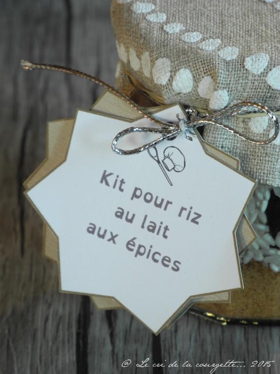 Kit pour riz au lait bio aux épices {cadeau gourmand}