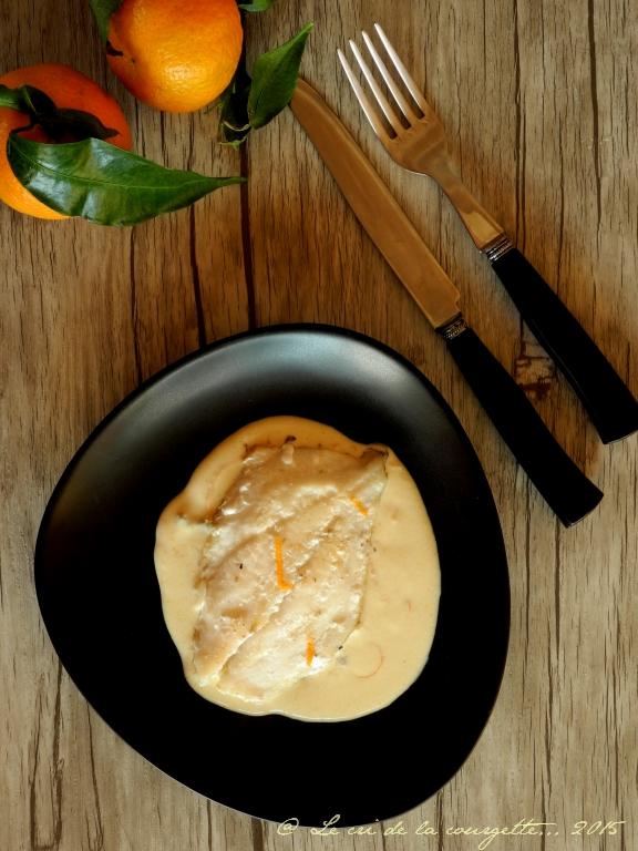 Daurade, sauce légère clémentine et cardamone