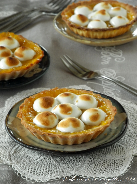 Tartelette à l'orange sanguine meringuée