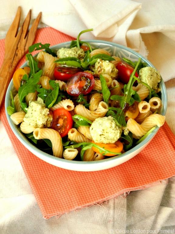 salade pâte pesto