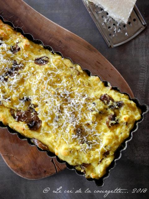 Gâteau de Polenta aux champignons