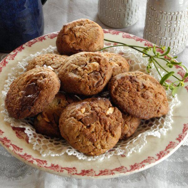 Cookies chocolat et orange confite